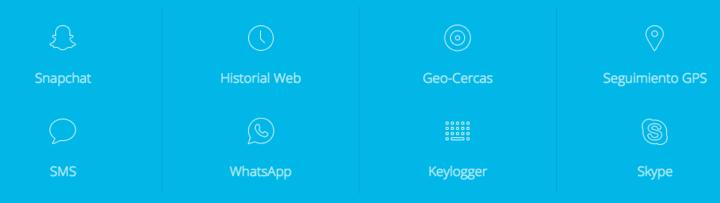 Funciones de mSpy app