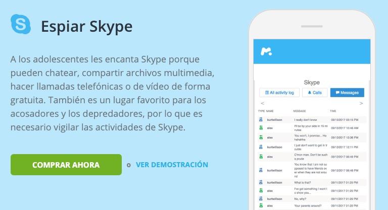 espiar skype
